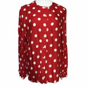 Russ Long sleeve Red with white polka dots…